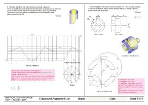 surface developments and oblique model answer