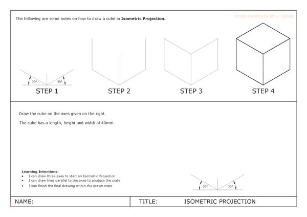 isometric worksheet